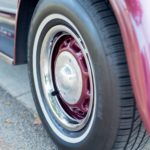 Close up of our vintage limousine's wheel